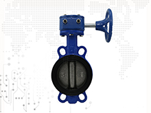 One stem no-pin wafer butterfly valve